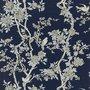 MARLOWE FLORAL - PRUSSIAN BLUE- Ralph Lauren Home wallpaper PRL048/04