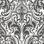 GWYNNE DAMASK - CHARCOAL Ralph Lauren Home wallpaper PRL055/06