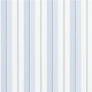 AIDEN STRIPE - BLUE / NAVY / WHITE Ralph Lauren Home wallpaper PRL020/07