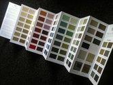 Handgeschilderde kleurenkaart Pure and Original
